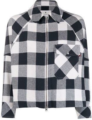 Woolrich Check Print Peacoat