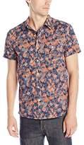 Lucky Brand Men's Short-Sleeved One Pocket Flap Shirt