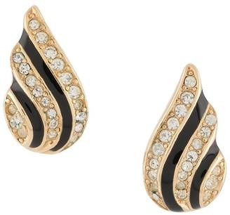 Christian Dior 1980s Pre-Owned Rhinestone-Embellished Earrings