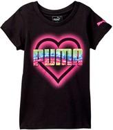 Puma Heart Graphic Tee (Little Girls)
