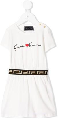 Versace Signature Logo Dress