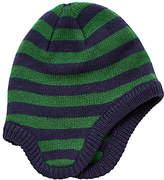 John Lewis Children's Stripe Trapper Hat, Navy/Green