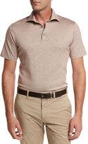 Ermenegildo Zegna Jacquard Polo Shirt, Light Brown