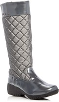 Khombu Alex Quilted Waterproof Wedge Boots