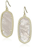"Kendra Scott Signature"" Elle Gold plated Rose Quartz Drop Earrings"