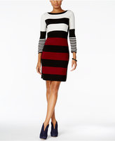 Sandra Darren Striped Sweater Dress