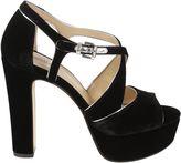 Michael Kors Harlen Velvet Platform Sandals