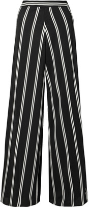 Alice + Olivia Athena Striped Georgette Wide-leg Pants