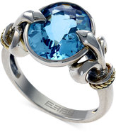 Effy Balissima by Blue Topaz Fleur de Lis Ring in 18k Gold and Sterling Silver (6-1/5 ct. t.w.)