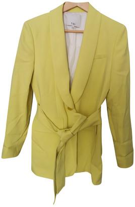 Tibi Yellow Viscose Jackets