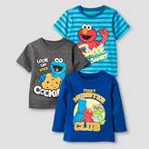 Sesame Street Toddler Boys' 3 Pack T-Shirts