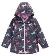 Joules Toddler Girl's Fleece Lined Rain Jacket