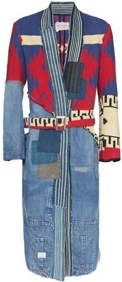 Greg Lauren 50/50 Brando patchwork coat