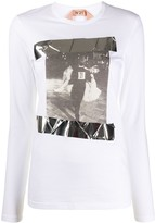 No.21 graphic print T-shirt