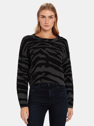 John & Jenn Marco Textured Zebra Sweater