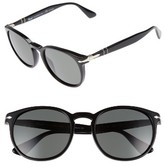 Persol Men's Galleria 54Mm Polarized Sungasses - Black/ Green