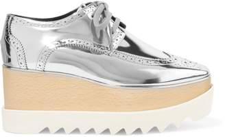 Stella McCartney Mirrored Faux Leather Platform Brogues