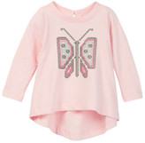 Tea Collection Mariposa Cross Stitch Top (Baby Girls)