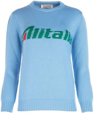 Alberta Ferretti Alitalia Intarsia Sweater