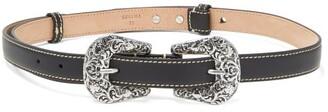 Acne Studios Audrey Leather Belt - Black