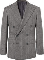 Ralph Lauren Purple Label - Grey Gregory Double-Breasted Pinstriped Wool Suit Jacket