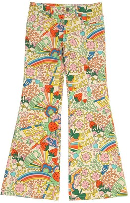Gucci Rainbow Print Stretch Cotton Denim Jeans