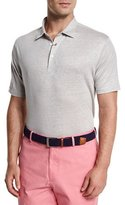 Peter Millar Summertime Linen Short-Sleeve Polo Shirt, Sand