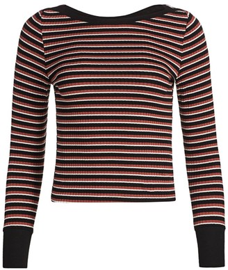 Frame Variegated Stripe Long-Sleeve Tee