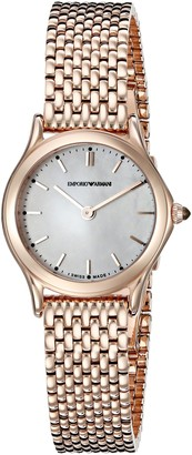 Emporio Armani Swiss Made Women's ARS7204 Analog Display Swiss Quartz Rose Gold-Tone Watch