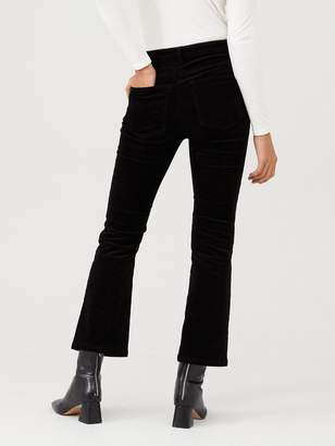 Very Slim Kick Flare Cord Trouser - Black