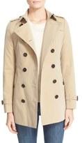 Burberry 'Sandringham' Short Slim Trench Coat