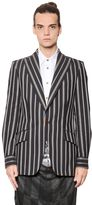 Vivienne Westwood Deconstructed Pinstriped Cotton Jacket
