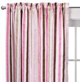 Bacati Curtain Panel - Mod Dots and Stripes - Pink/Chocolate