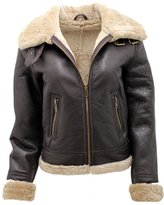Infinity Women's B3 WW2 Ginger Real Thick Sheepskin Leather Flying Jacket L