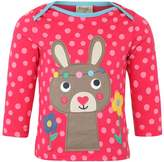 Frugi ZGREEN BOBBY APPLIQUE TOP Long sleeved top raspberry pop/bunny