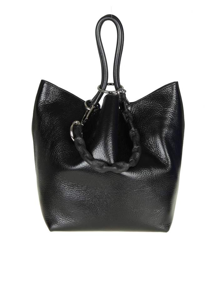 Alexander Wang Small Roxy Bag In Black Leather