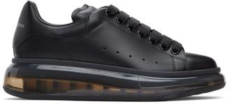 Alexander McQueen Black Clear Sole Oversized Sneakers