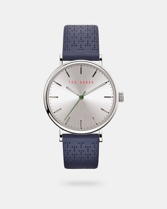 Ted Baker MIMOSS T perforated leather strap watch