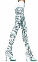 Sky Hosiery Funky Nylon Zebra Print Opaque Pantyhose