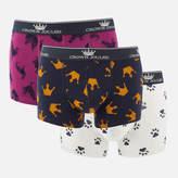 Joules Men's Crown Joules 3 Pack Boxer Shorts