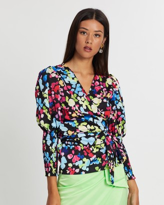 NEVER FULLY DRESSED Luxe Wrap Top