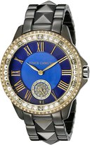 Vince Camuto Women's VC/5161BLGT Swarovski Crystal Accented Gunmetal Pyramid Bracelet Watch