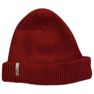 Versace Red Wool Hats & pull on hats