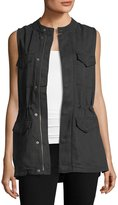 Matty M Sleeveless Multi-Pocket Utility Vest