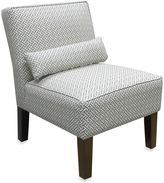 Skyline Furniture Armless Chair in Cross Section Charcoal