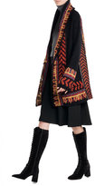 Etro Wool Blend Knit Cardigan with Metallic Thread