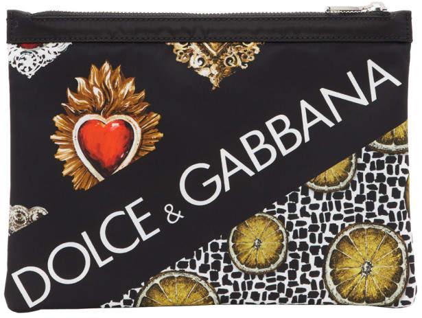 Dolce & Gabbana Black Lemon and Sacre Coeur Pouch