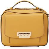 Zac Posen Earthette Leather Top-Handle Box Bag