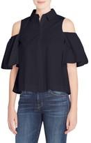 Catherine Malandrino Women's Linette Cold Shoulder Shirt