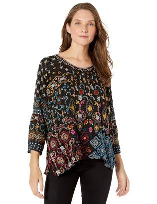 Johnny Was Women's All Over Embroidery Blouse